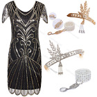 1930s 1920s Flapper Dress Charleston Gatsby Clubwear Fringe Sequin Party Costume