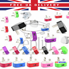WHOLESALE Colourful Standard 3 Pin UK USB for Mobiles Wall Plug Adapter Charger