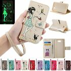 Lovely Luminous Flip Leather Kickstand Wallet Case Cover For Samsung J3 J5 J7