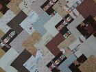BIG BEAR LITTLE BEAR ~ COTTON FABRIC CRAFT PATCHWORK SQUARES PIECES CHARM PACK