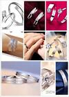 EXCLUSIVE DESIGN SALE~ NEW Men Lady 925 plated  Silver Wedding Ring Set