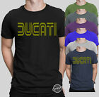 Ducati Gold Classic Mens T Shirt Motorcycle SUPERSPORT Monster Size S-5XL Black
