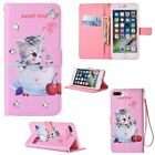 Patterned Flip Leather Stand Card Diamond Wallet Case Cover For iPhone 6s 7 Plus