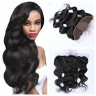 "Brazilian Human Hair Body Wave Silk Base Ear to Ear Lace Frontal Closure 13""x4 """
