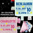 PERSONALISED BABY TAGGY TAGGIE BLANKET COMFORTER BOY GIRL GIFT NAME DATE STARS