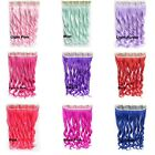 """24"""" Clip In On Long Wavy Curly Colorful Synthetic Hair Extensions 5 Clips 1pc"""