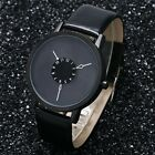 Men Fashion Casual Watch Leather Unisex Creative Dress Men Watches Hour Casual