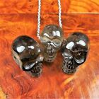 Skull Necklace Smoky Quartz Carved Bead Pendant V31 Healing Crystals And Stones