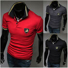 Casual T-Shirt Mens Stylish Casual Slim Fit Short Sleeve Polo Shirt T-shirts Top