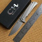 A0317 Local Shipping CH Folding Knife D2 Blade Titanium Handle EDC Flipper Knife