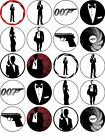 "James Bond  x 20  Cupcake Toppers Approx 1.8"" £2.85 GBP on eBay"
