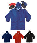 Kids Adult Shower Proof Cagoule Jacket Bag Rain Outdoor Camping School CJ3265