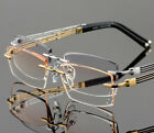 NEW Men Optic Glass Rimless Hingless Eyeglasses Frame Titanium no Screw Eyewear