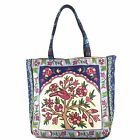 Extra Large Tapestry Zip Top Tote Bag Tree Floral Bohemian Woven Handbags