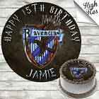 HARRY POTTER RAVENCLAW EDIBLE BIRTHDAY CAKE TOPPER DECORATION PERSONALISED