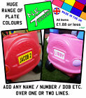 PERSONALISED BACK Number Plate fits ANY Little Tikes Cozy Coupe car kids ride on