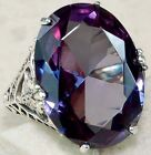 Women Fashion Jewelry  925 Silver Amethyst Zircon Wedding Ring Size 6-10