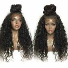 "12""-22"" Pre-Plucked 180% Density Kinky Curly  360 Lace Frontal Wig Baby Hair"