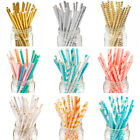 25x Vintage Polka Retro Paper Drink Straws Party Birthday Wedding Tableware