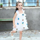 Children Girl Fancy Dressing Sleeveless Butterfly Bridemaid Party TuTu Dresses