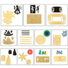 Gold 3D Stereo Cutting Dies Stencils Scrapbooking Embossing Cards DIY Crafts**