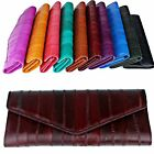 Women Long Wallet Coin Bill Purse 100% EEL Leather Gift Item Organizer R1005