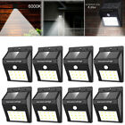 8 Pack - Solar Power Sensor Wall Light Security Motion Weatherproof Outdoor Lamp