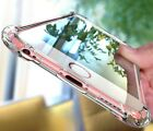 For iPhone 6 6S 7 8 Plus X  Case Clear Hybrid Slim Shockproof  TPU Bumper Cover