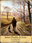 JAMES PURDEY PHEASANT LABRADOR DOG SHOOTING METAL PLAQUE TIN SIGN NOSTALGIC 323