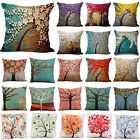 "18"" Vintage Linen Cotton Flower Throw Pillow Case Cushion Cover Home Sofa Decor"