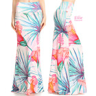 Tropical Floral Sublimation high waist maxi long skirt S/M/L/XL/1XL/2XL/3XL