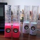 Hot 2x Colorful Dancing Water Speakers LED Music Fountain Light for Notebook PC,