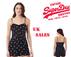 New Superdry Womens Viscose Holiday Print Playsuit Floating Daisy Size XXS-L