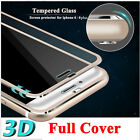 9H 3D Full Cover Tempered Glass Screen Protector Film For iPhone 6 6S 7 8 Plus X