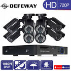 DEFEWAY 8CH 720P CCTV Camera Security System 1080N Outdoor IR Night Vision DVR