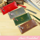 [SALE]Vintage Key PU Leather Pencil Bag Pen Case Makeup Pouch Cosmetic Holder
