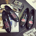 Embroidered Men Slippers Loafers Dress Shoes Smoking Men Flats Princesstown Shoe