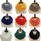 Women Knitted Scarves Winter Knitting Infinity Collar Crochet Ring Scarf Loop