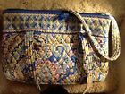Vera Bradlley quilted purse, multi colors predominately blues, zip cloisure