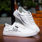 New Men's Canvas Sneakers Breathable Recreational Shoes White Casual Shoes