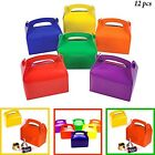 Assorted Bright Rainbow Colors Cardboard Favor Boxes Treat Goody Bags Party Gift