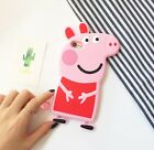 3D Cartoon Peppa Pig Soft Silicone Phone Case Cover For iPhone 6 6s 7 / Plus