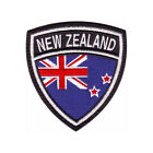 NEW ZEALAND FLAG CREST EMBROIDERED PATCH