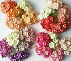 Внешний вид - 50 pcs Mix Color Double Layer Mulberry paper Flower Scrapbooking Crafts 1.5cm