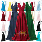 Long Chiffon Applique Evening Wedding Formal Gown Bridesmaid Party Prom Dress