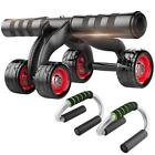 4 Wheel Abdominal Ab Huscle gym home exercise Fitness Roller Training RP&