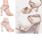 NEW WOMENS CLEAR HEEL PERSPEX SANDAL BUCKLE PARTY EVENING PEEP TOE SANDAL SHOES
