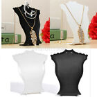 Commerical Pendant Necklace Display Bust Stands Plastic Jewelry Holder Stand US