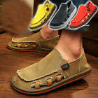 Canvas shoes feet wide Loafers Leisure beggar shoes British men's personality