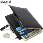 Bogesi PU Leather Bifold Wallet Credit Card Holder for Men's